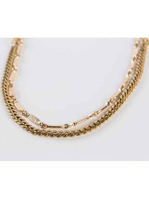 Monoxide Style Aya Double Layer Necklace - Gold