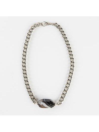 Monoxide Style Sirenum Agate Choker - Black
