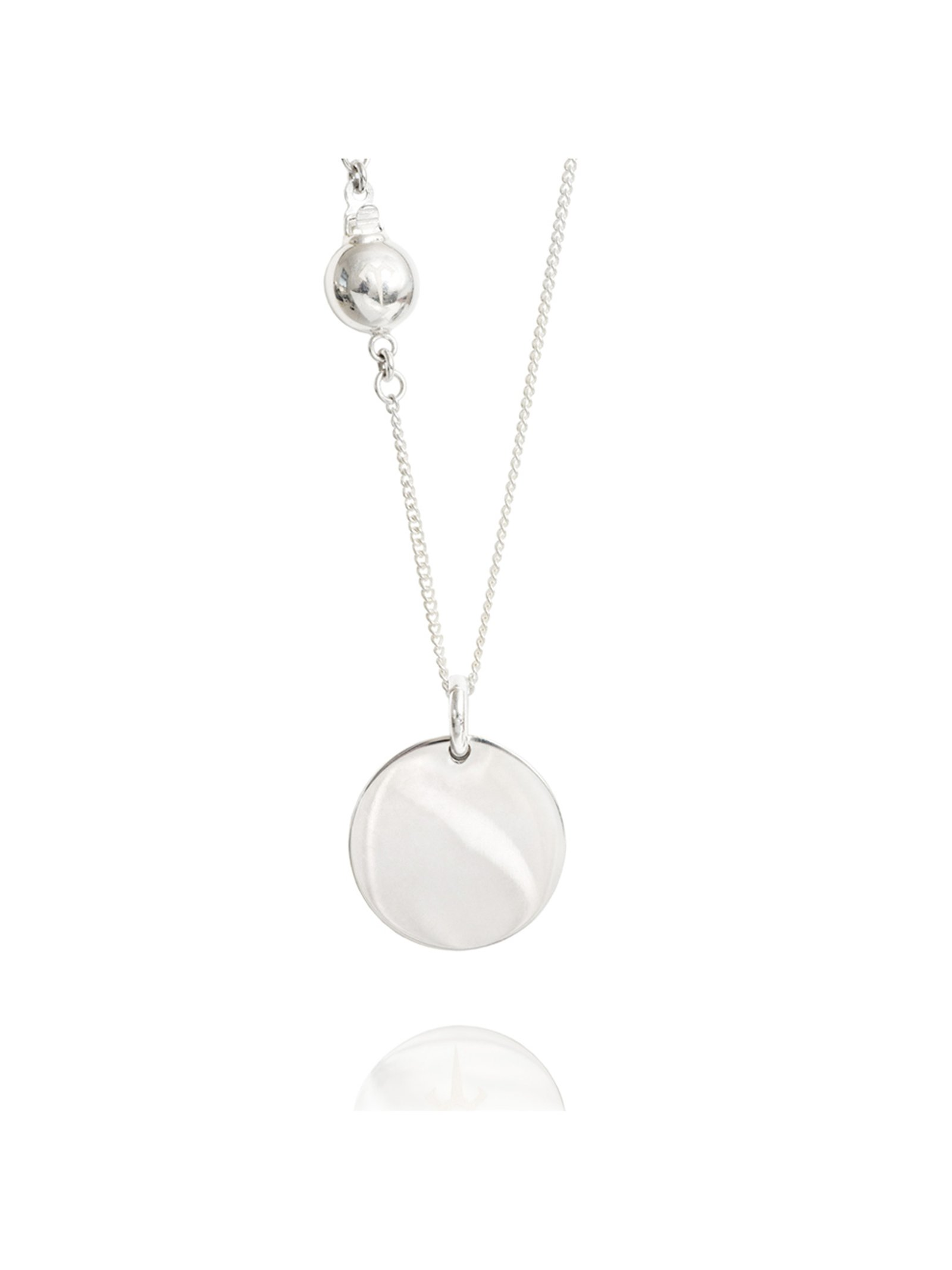 Ternary London MEDIUM COIN PENDANT NECKLACE SILVER