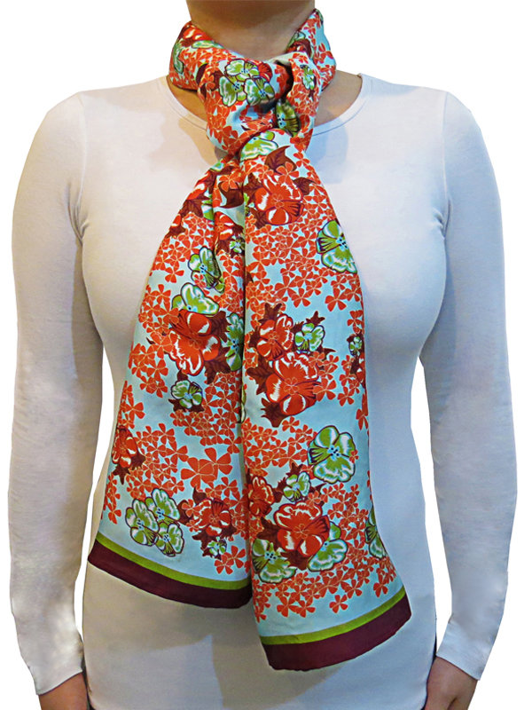 LISAN LY Floral Print Scarf
