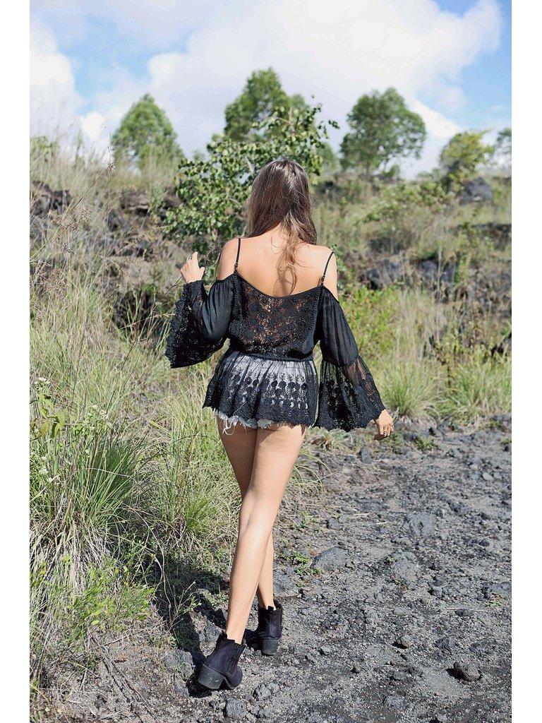 Tulle & Batiste Fairy Love Blouse Black
