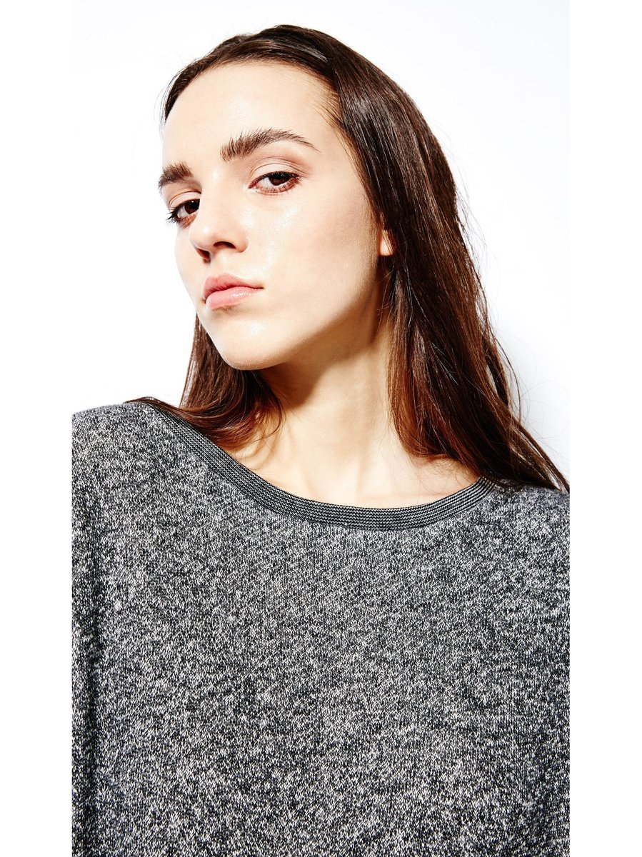 Devlyn van Loon Sweater Dress - Charcoal Melange