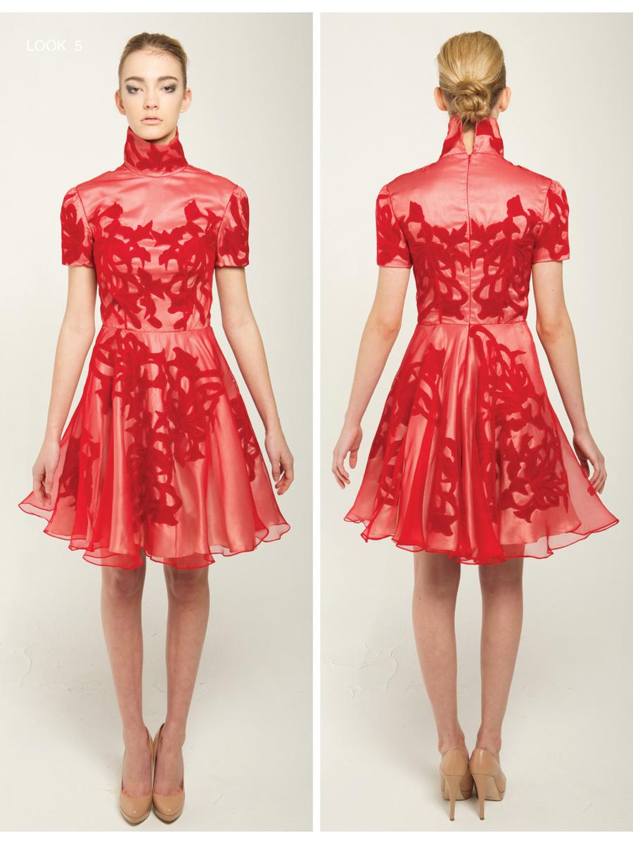 Narces Gabi High Collar Dress