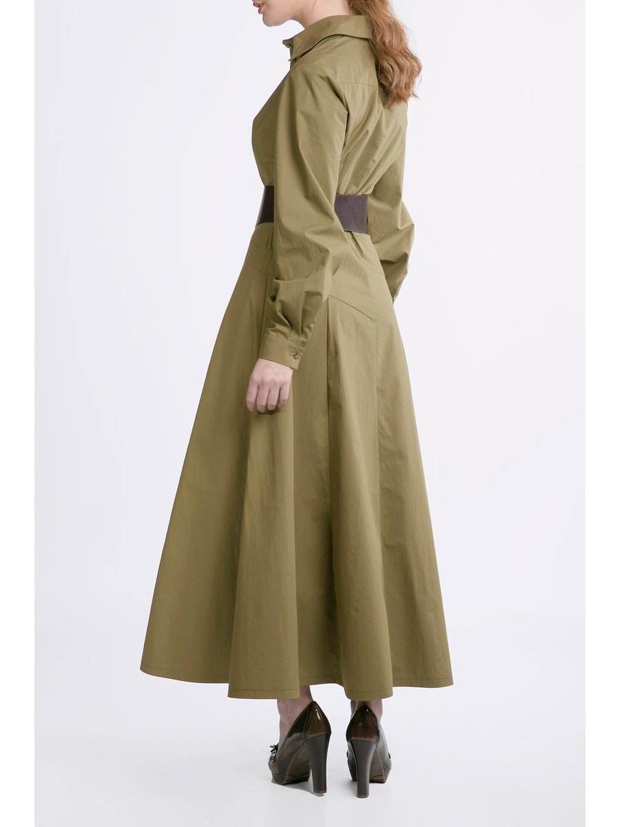 HB by Hanna Baranava Green Botton Dress