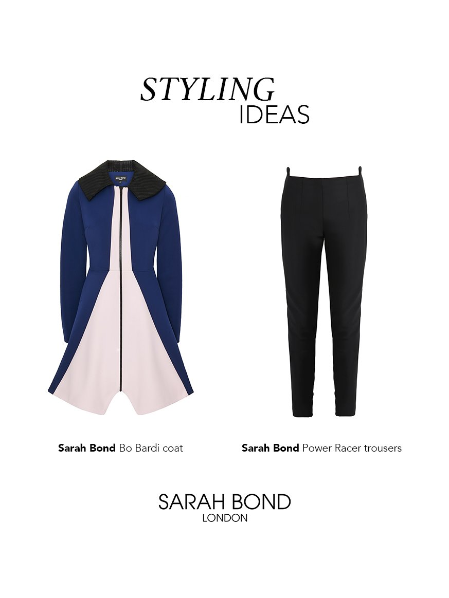 Sarah Bond Power Racer Trousers Black