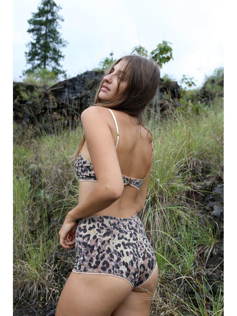 e24c72eb5b3378 Tulle   Batiste Hunter Bloomers Bikini Bottom Chestnut - PR-A-PO