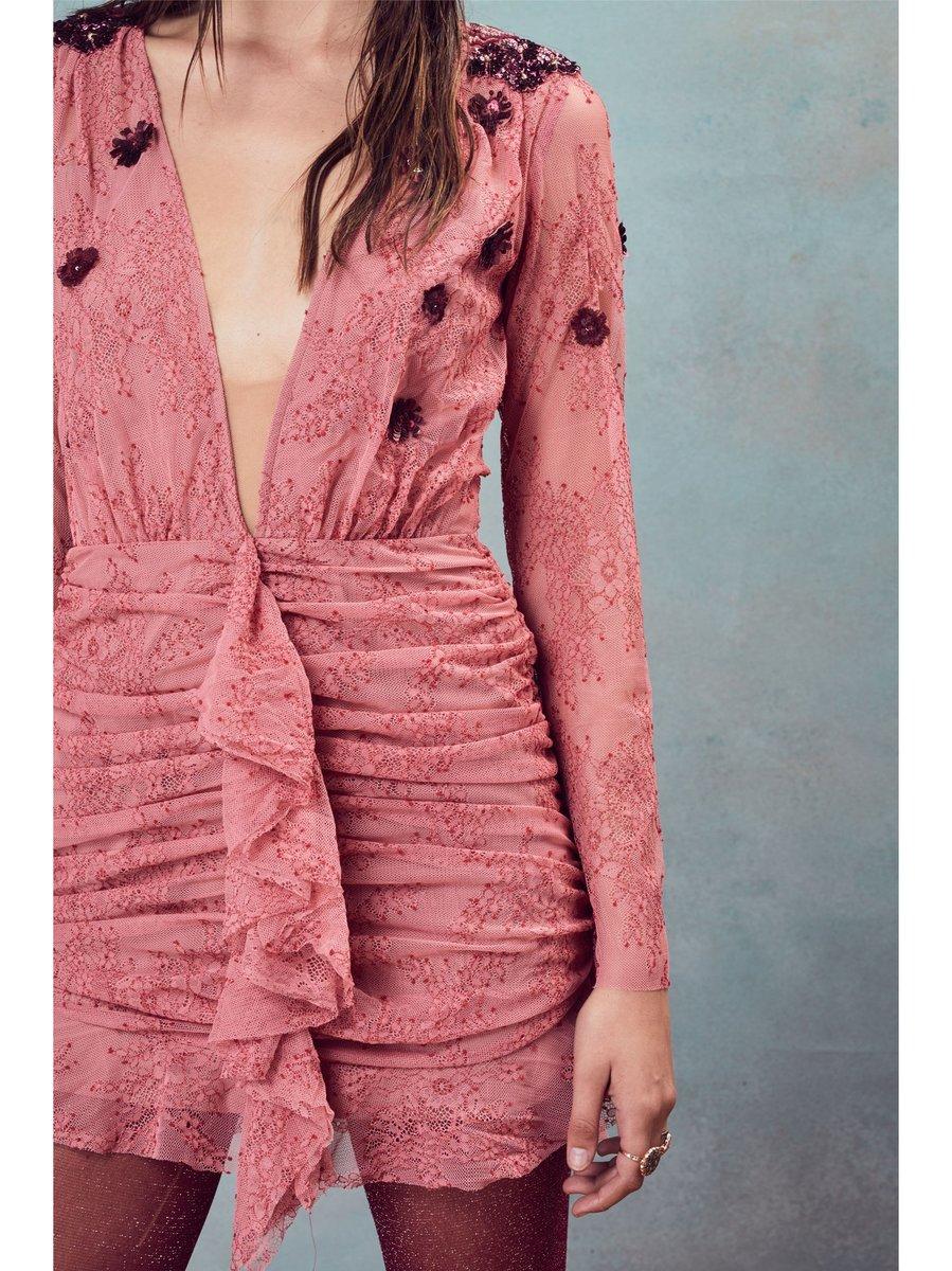 For Love & Lemons Daisy Lace Mini Dress