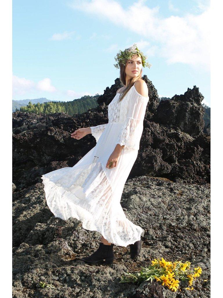 Tulle & Batiste Fairy Love Maxi Dress Offwhite
