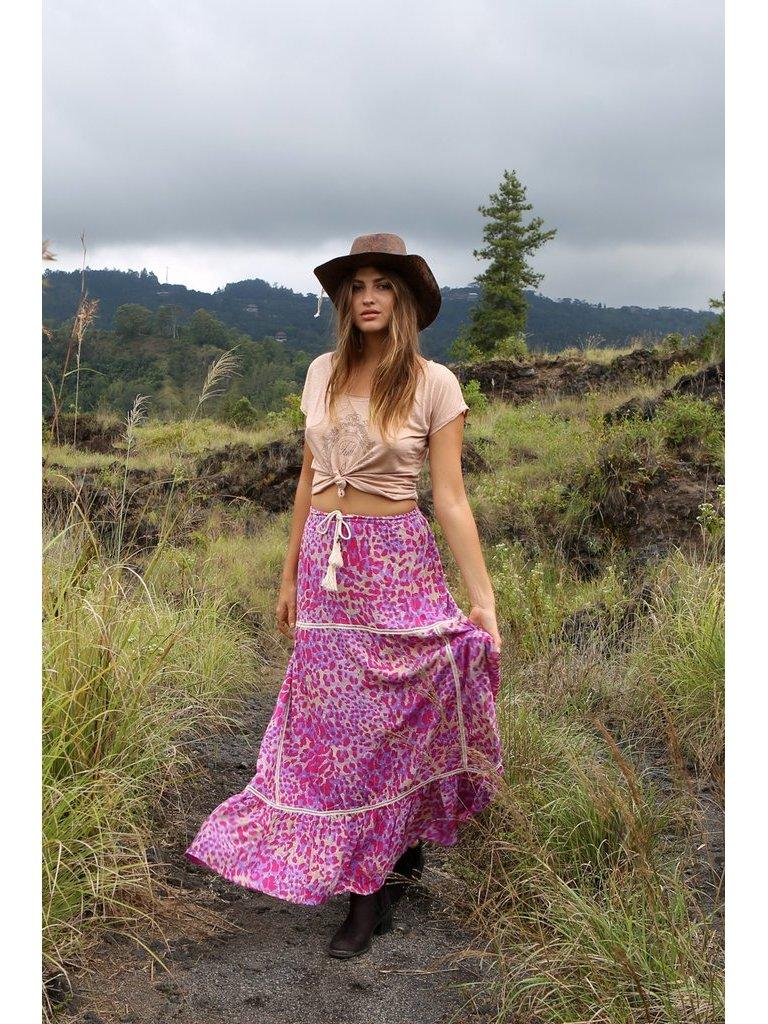 Tulle & Batiste Savannah Maxi Skirt Magenta