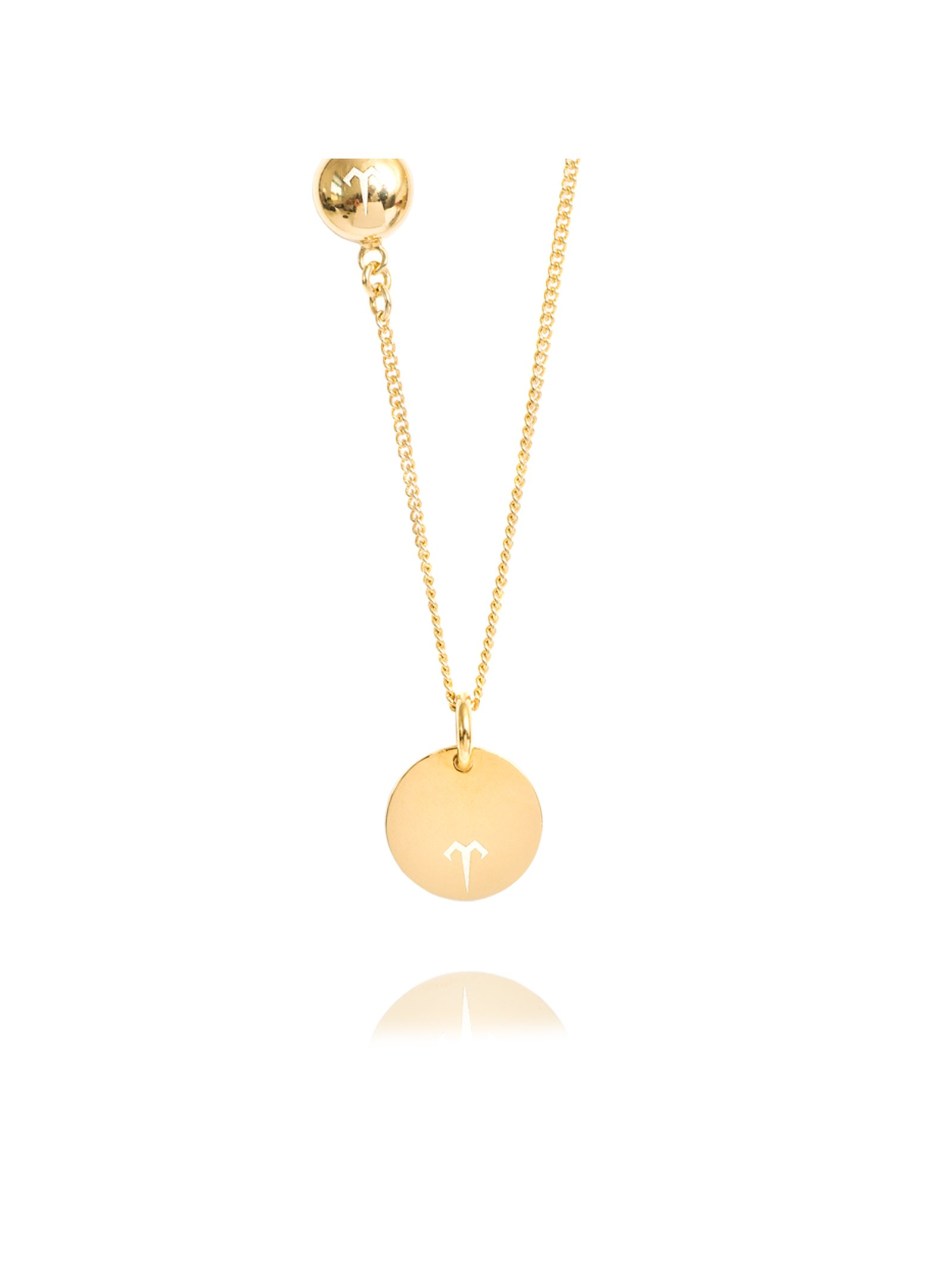 Ternary London SMALL COIN PENDANT LONG NECKLACE GOLD
