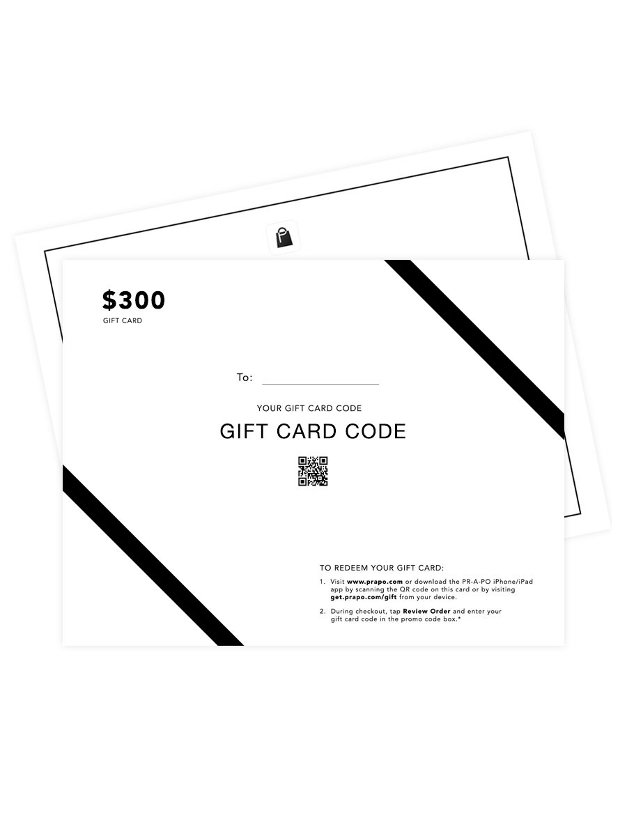 PR-A-PO Gift Card - $300