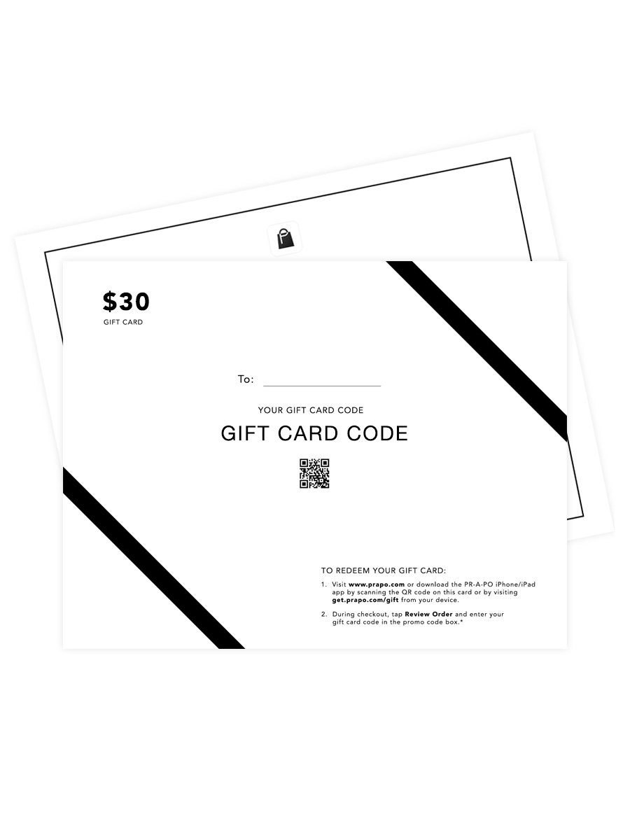 PR-A-PO Gift Card - $30