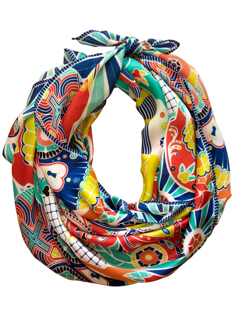 Furious Goose 'We're All Going to Die' – Silk Scarf Mexico