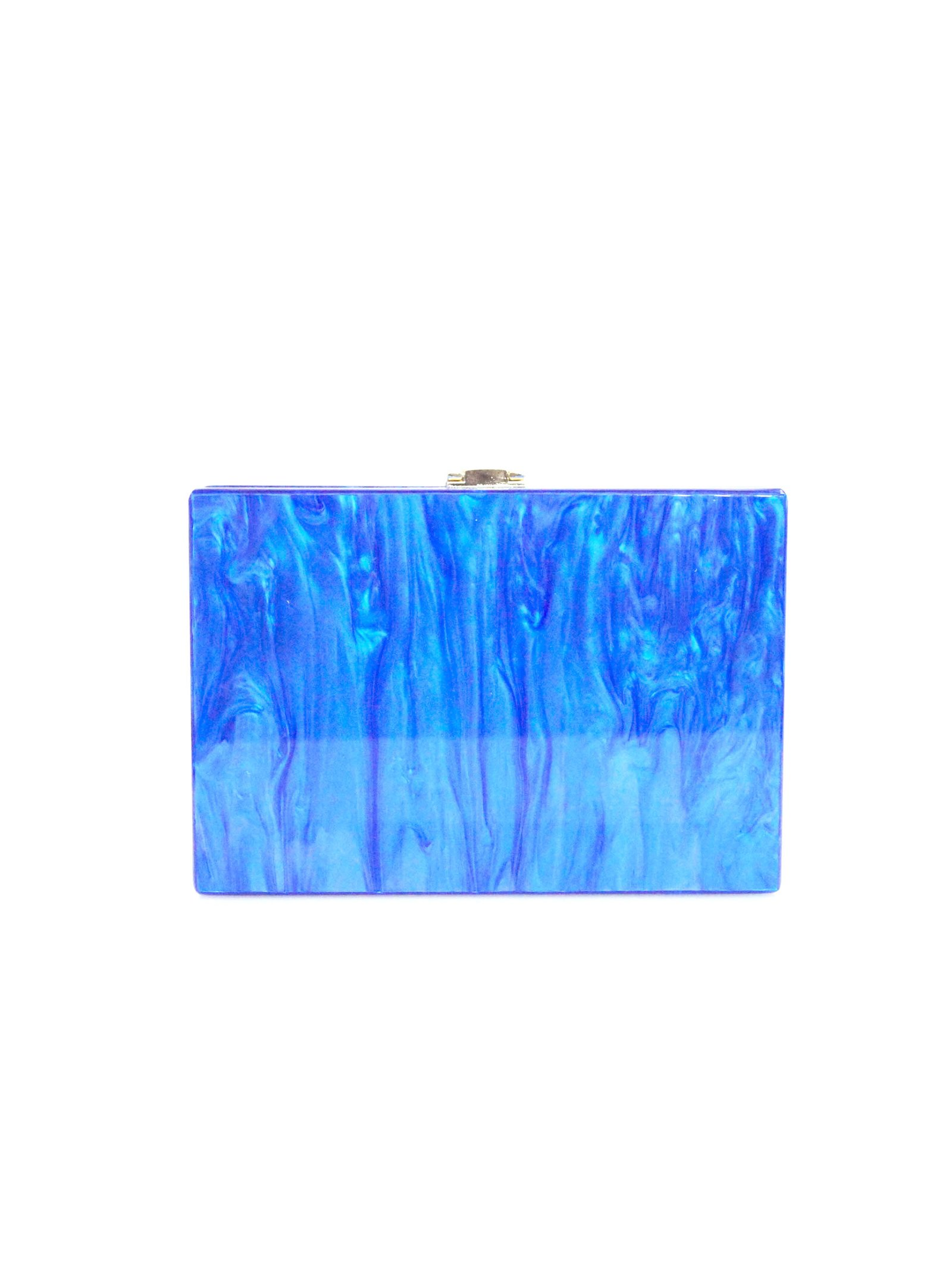 Milanblocks Sea Creature Blue Acrylic Box Clutch