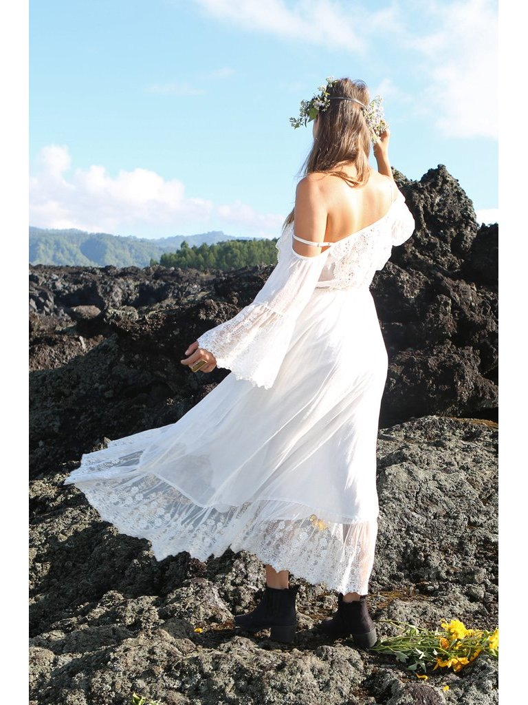 Tulle & Batiste Fairy Love Maxi Dress Offwhite