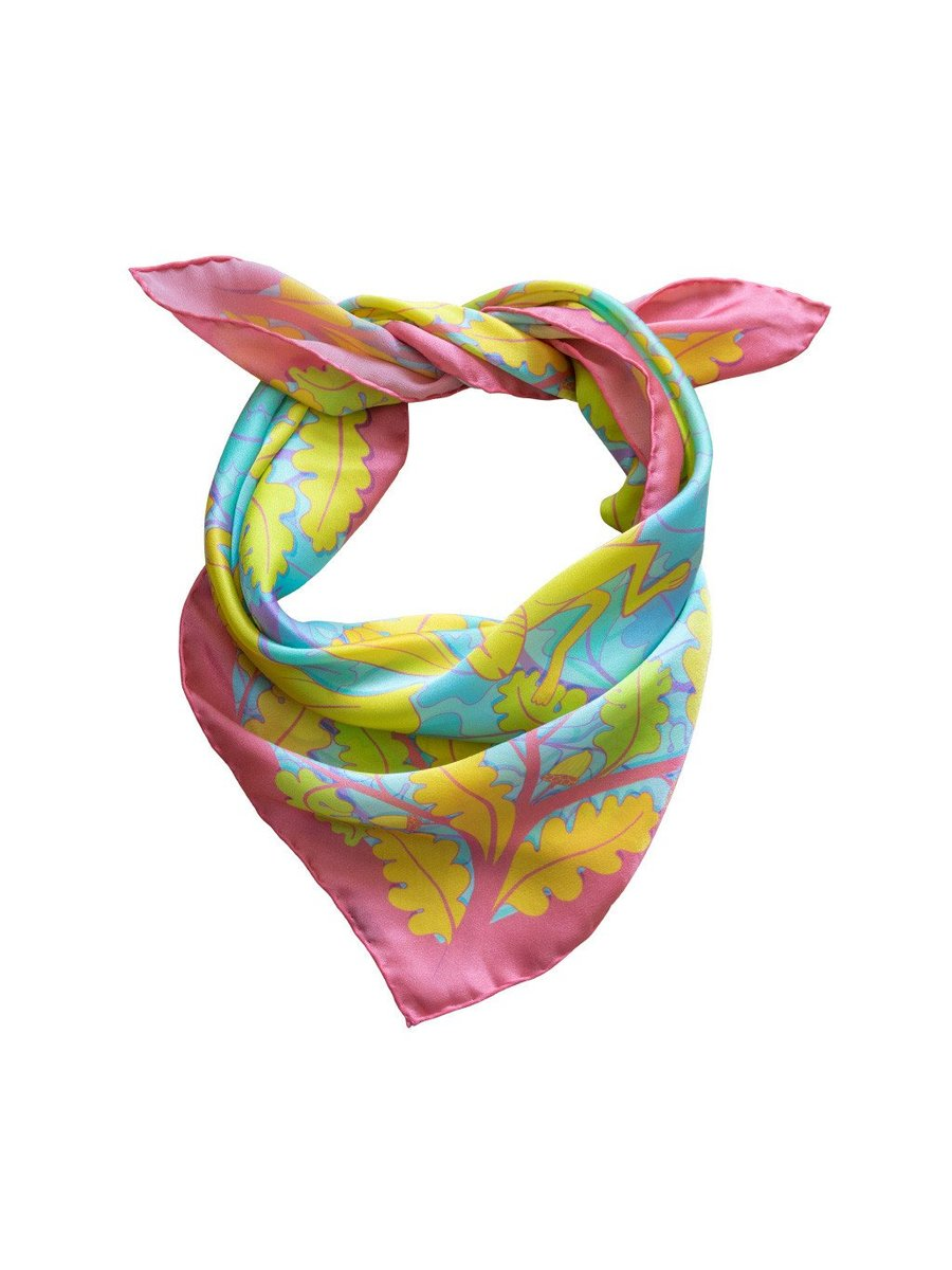 Furious Goose Trio of Hares – Sunrise, Midi Scarf