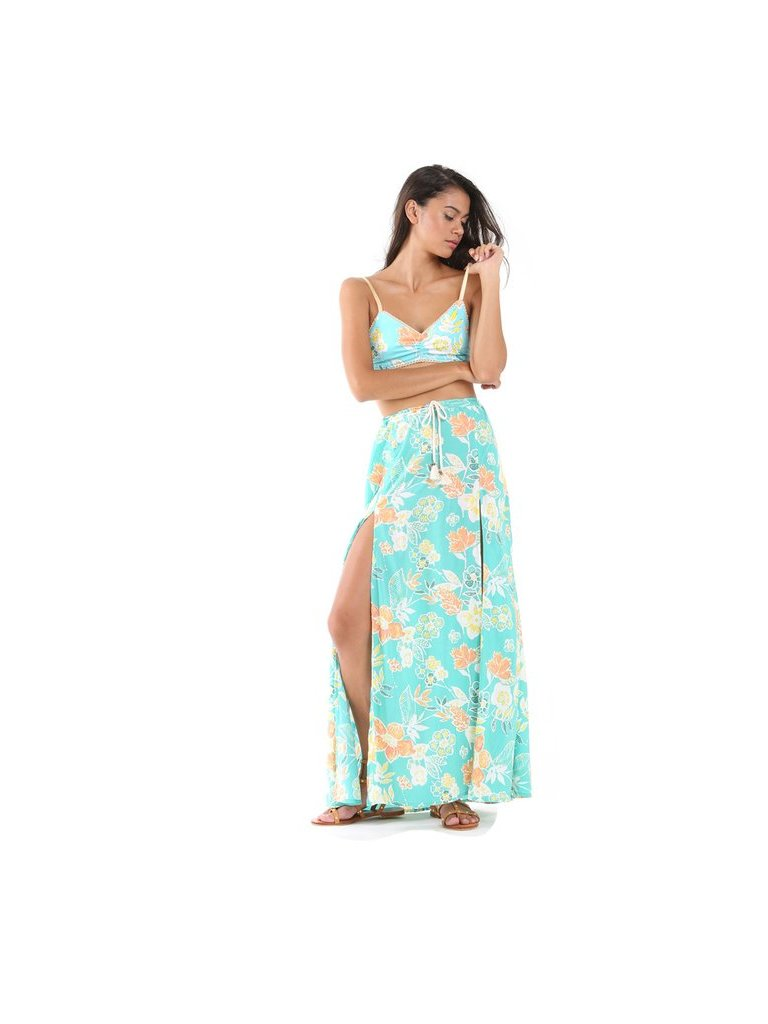 Tulle & Batiste Camelia Maxi Skirt Turquoise