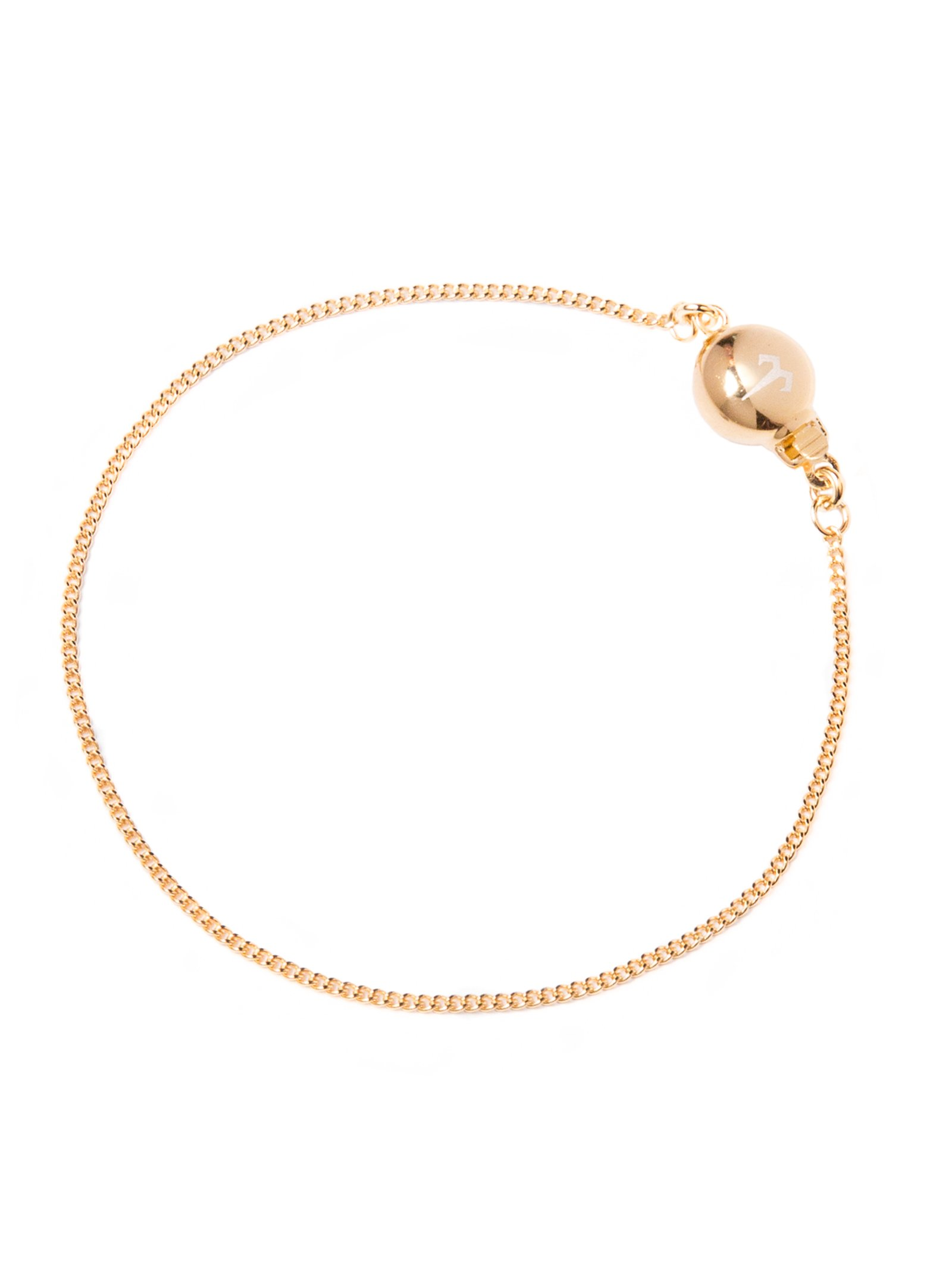 Ternary London TERNARY TIMELESS 18CT GOLD PLATED STERLING SILVER CHAIN BRACELET