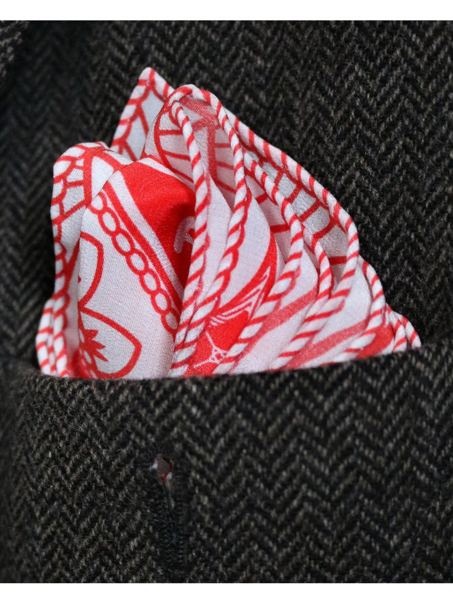 Furious Goose We're all Going to Die – Silk Pocket Square Red