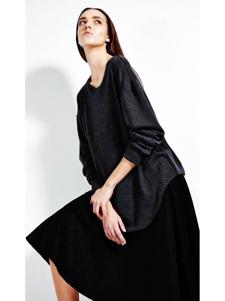 Devlyn van Loon Slim Knit Long Sleeve - Charcoal