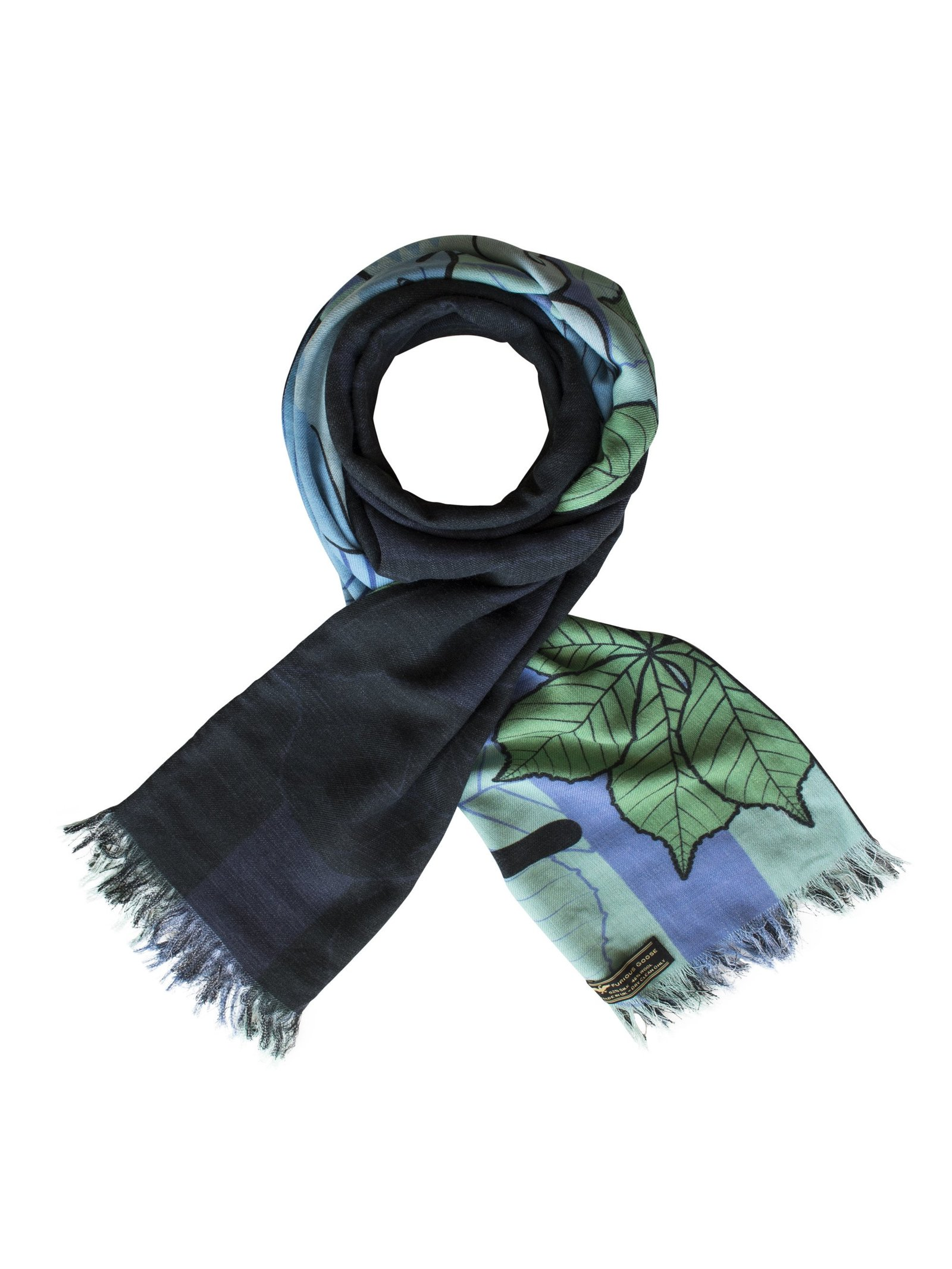 Furious Goose Foxes – Winter, Reversible Long Scarf