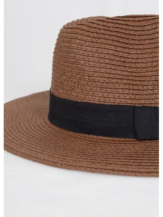 Arcade Attire Brown Straw Panama Hat