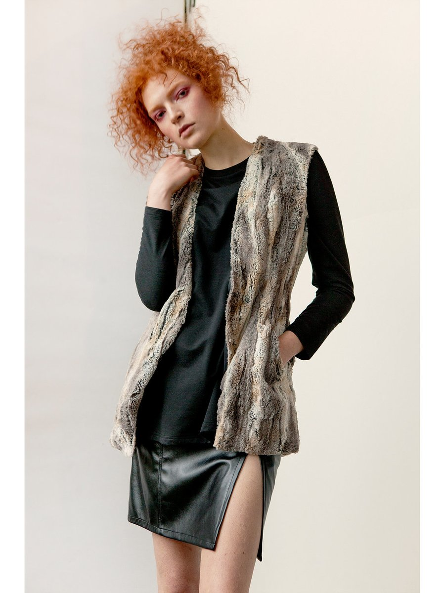 Hilary MacMillan Faux Fur Vest