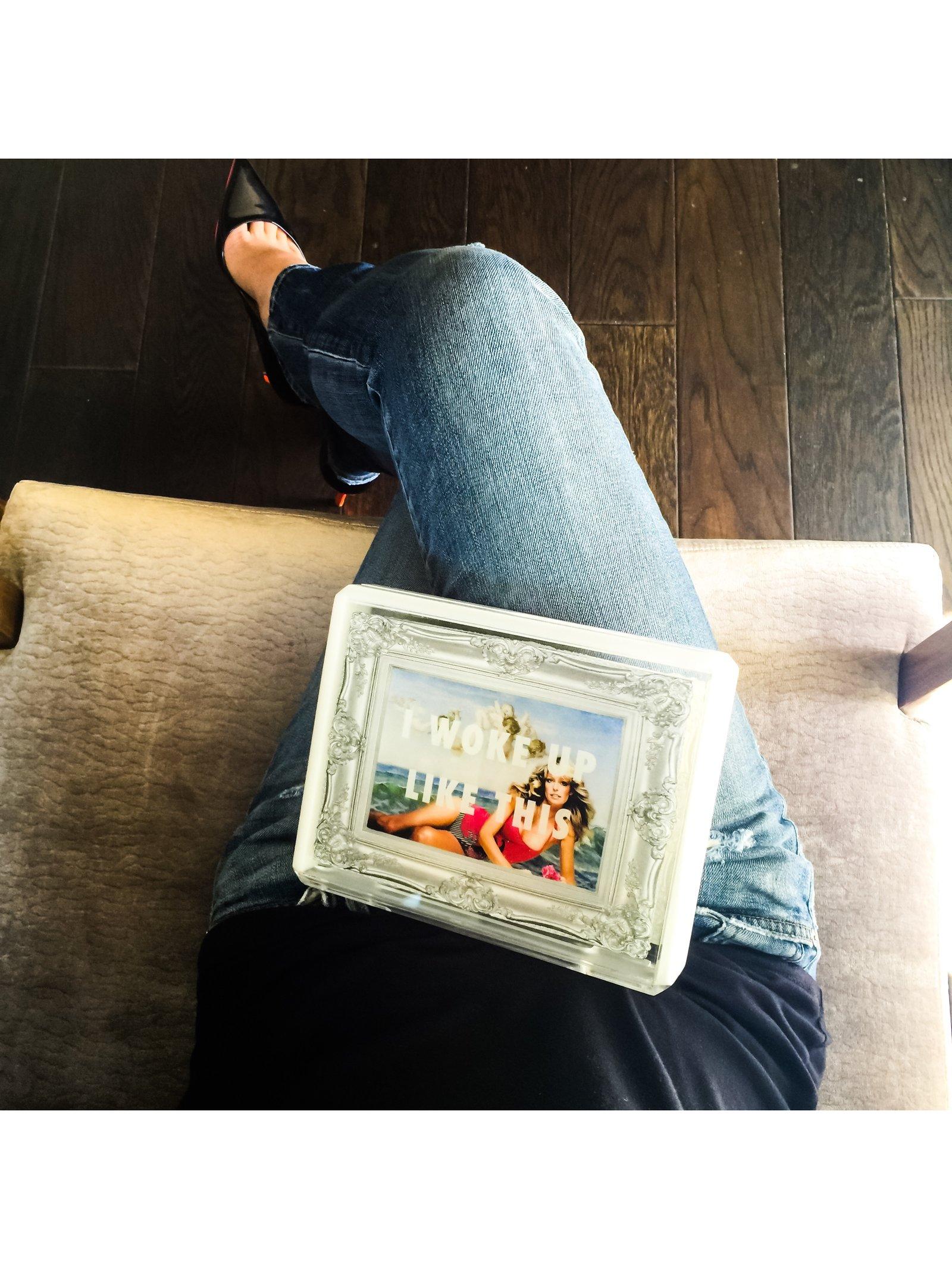 Stefanie Phan Birth Of Flawless Acrylic Clutch