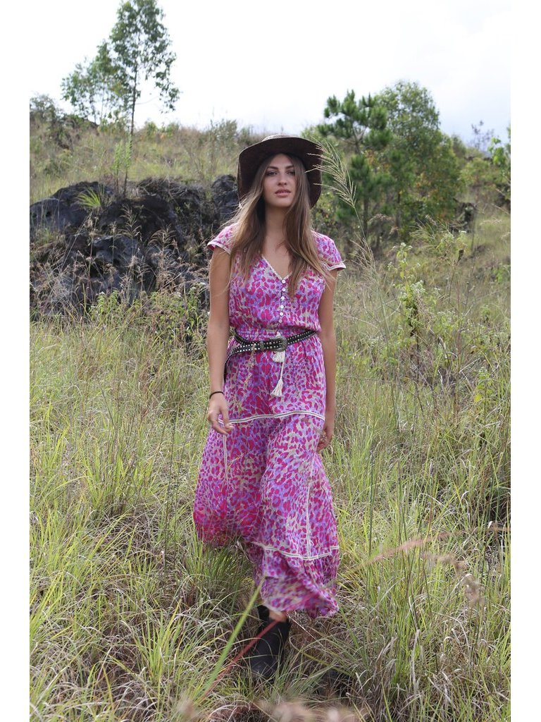 Tulle & Batiste Savannah Maxi Dress Magenta