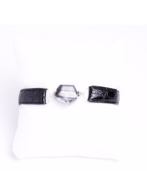 Monoxide Style What Time Is It Mr. Wolf Bracelet - Black Patent Leather