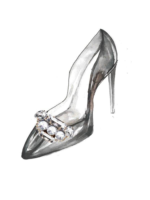 Kari C. Art Deco Shoe Bijoux clip
