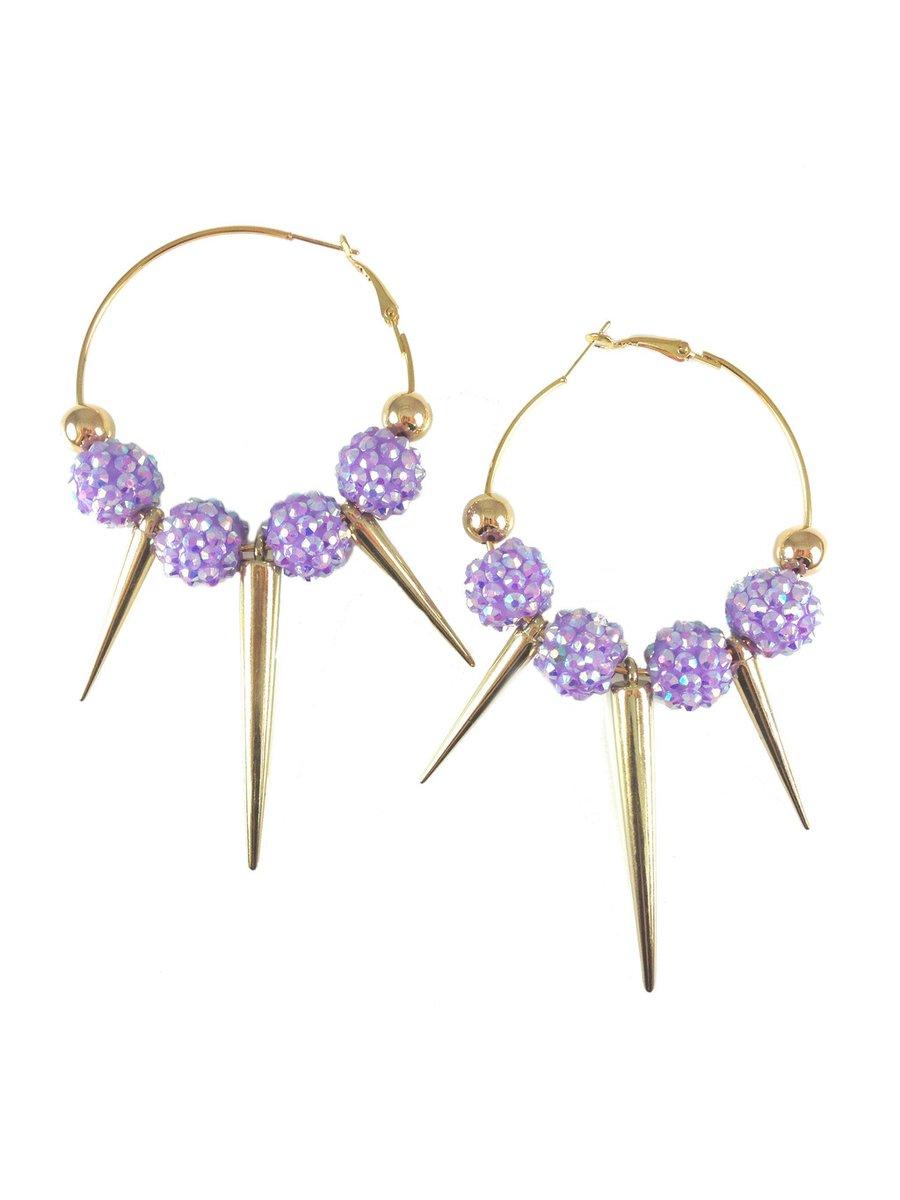 MizDragonfly Farrah Spikes Purple & Black