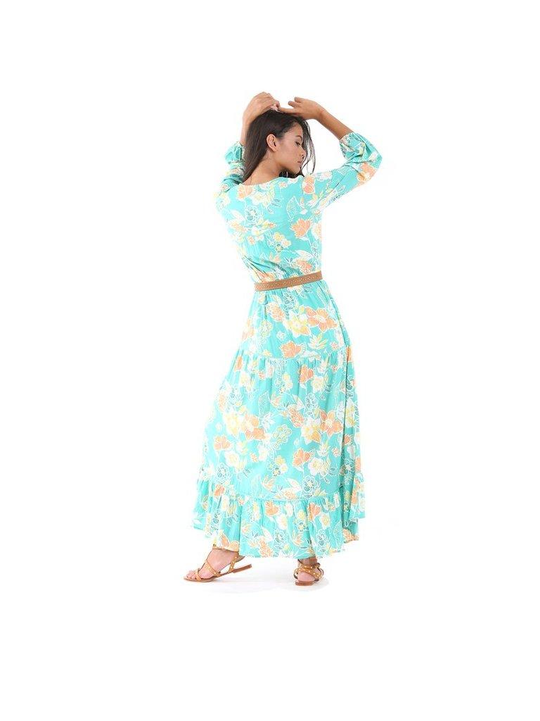 Tulle & Batiste Camelia Maxi Dress Turquoise