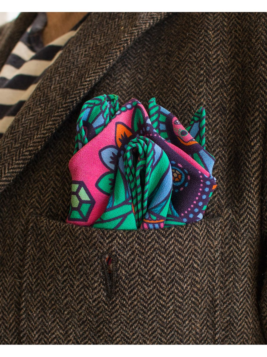 Furious Goose We're all Going to Die – Silk Pocket Square Pucci