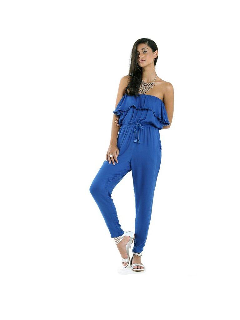 Tulle & Batiste Lulu Jumpsuit Cobalt Blue
