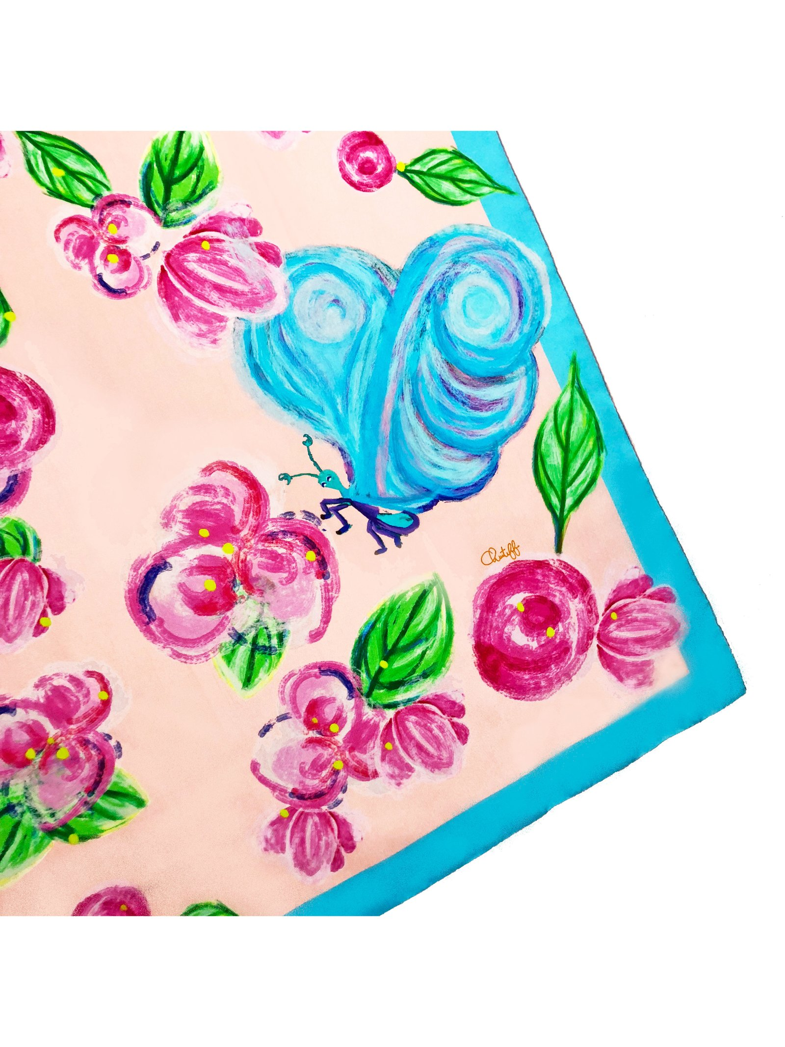 CHRITIFF Loving Viva Scarf (Baby Pink) 90cm