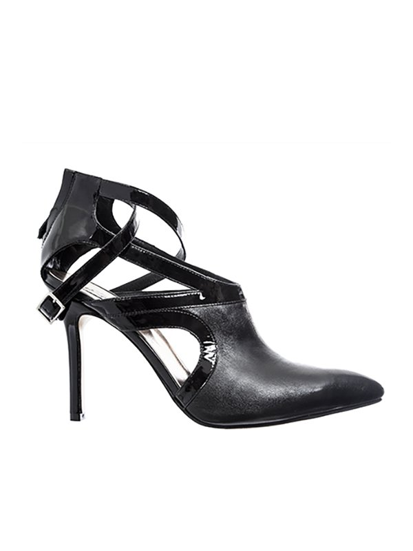 Kari C. Aria Black Cut-Out Leather Boot