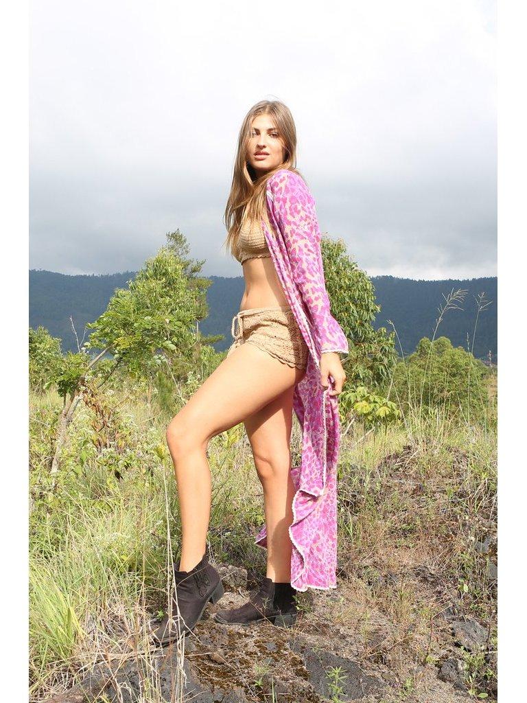 Tulle & Batiste Hunter Crochet Shorts Beige