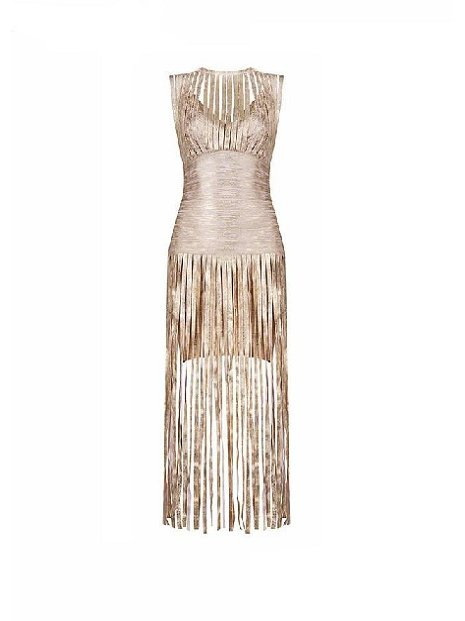 Kari C.  Fringed dress