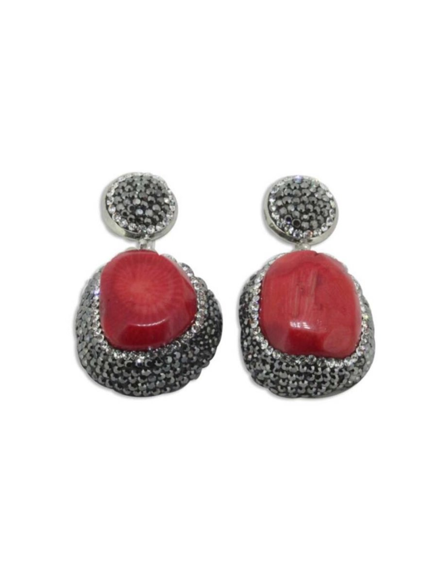 Kari C.  Red agate earrings