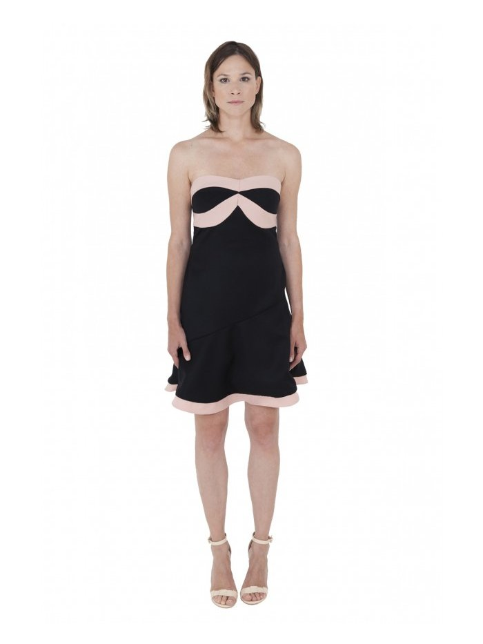 LIZA VETA MERINO WOOL FLARED DRESS