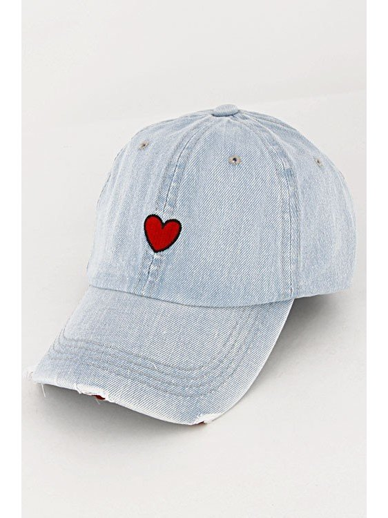 Arcade Attire Simple Heart Strapback Cap