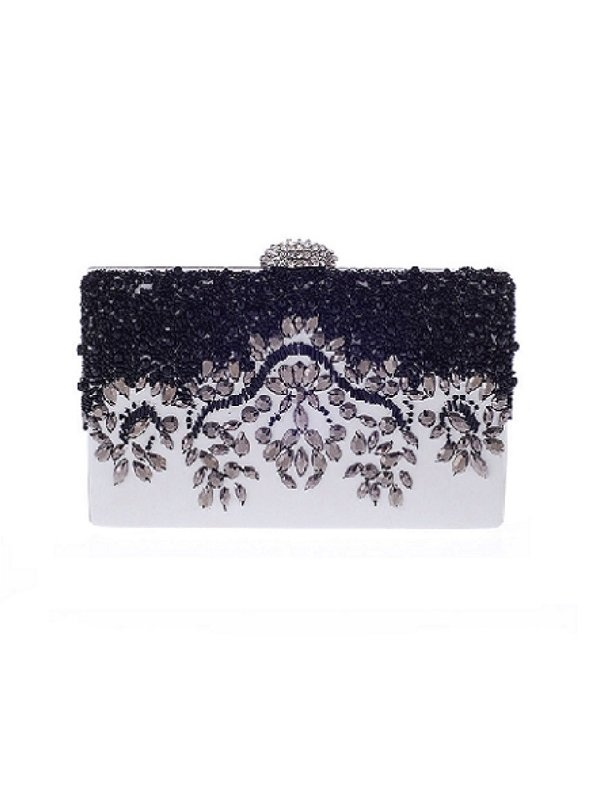 Kari C. Anya embellished leather clutch
