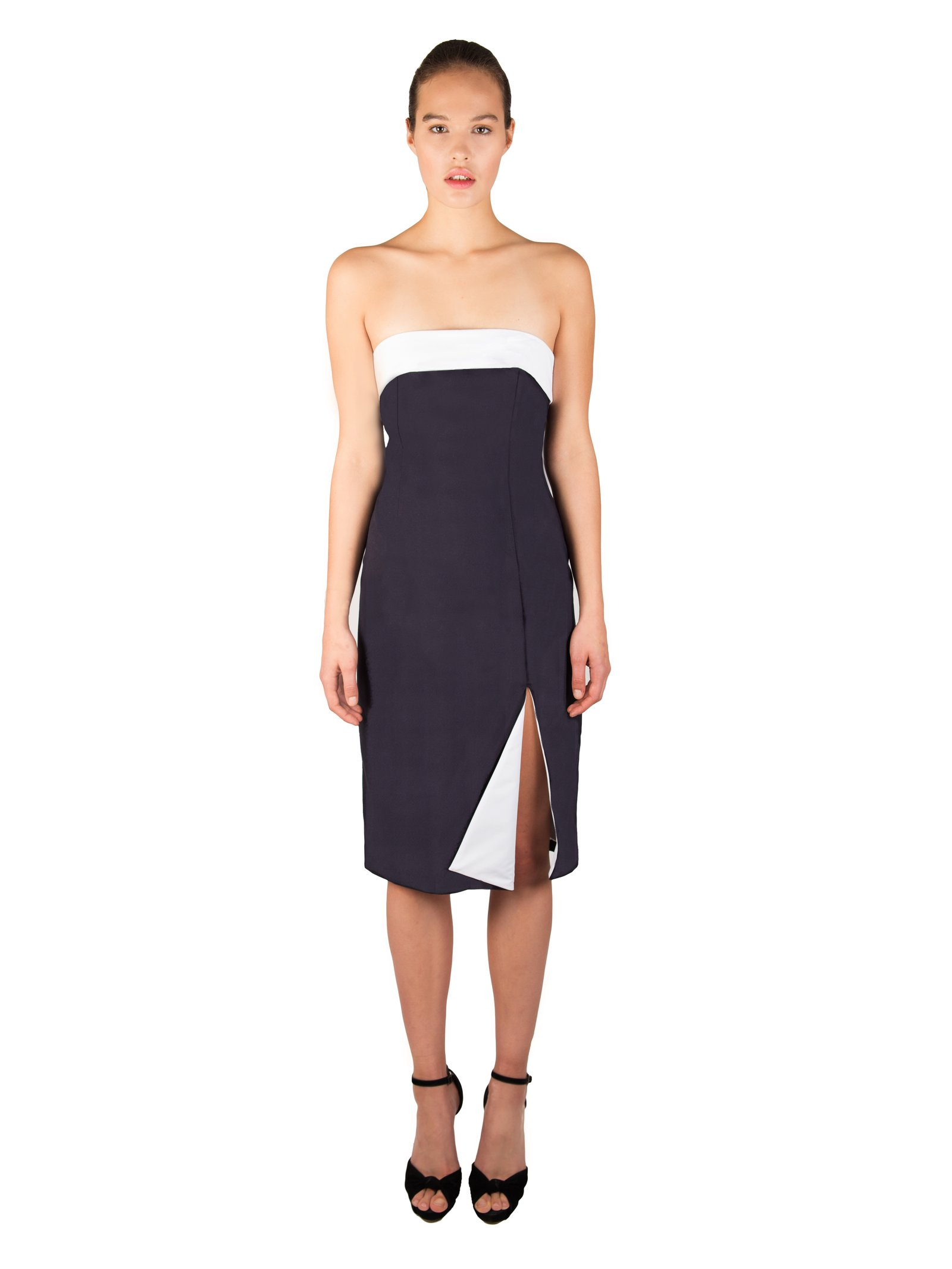 LIZA VETA Strapless Cotton Dress