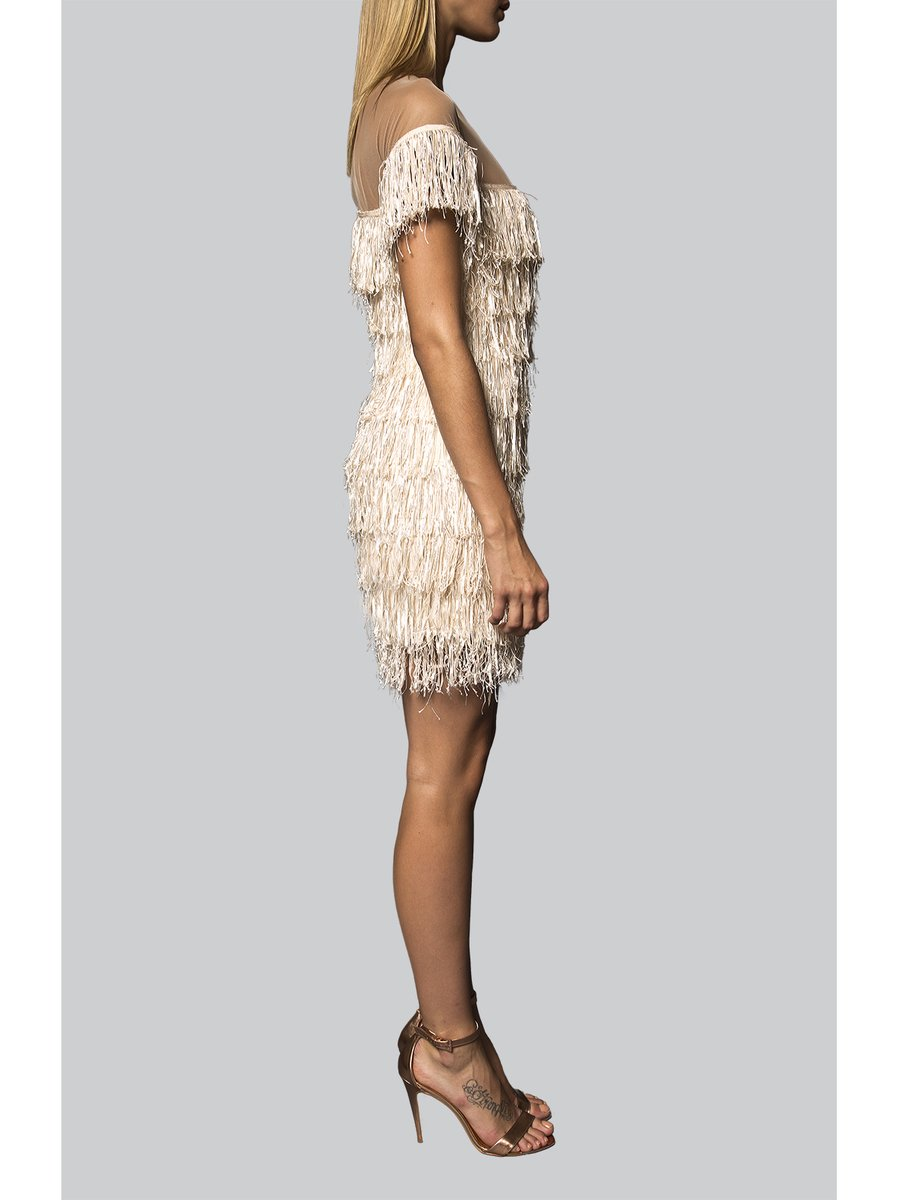 Narces Fringe Cocktail Dress