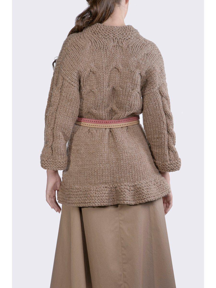 HB by Hanna Baranava Brown Handmade Pullover