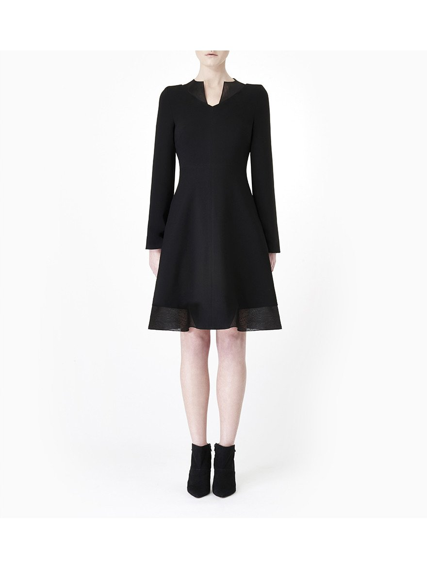 Sarah Bond Valentina Black Crepe Dress