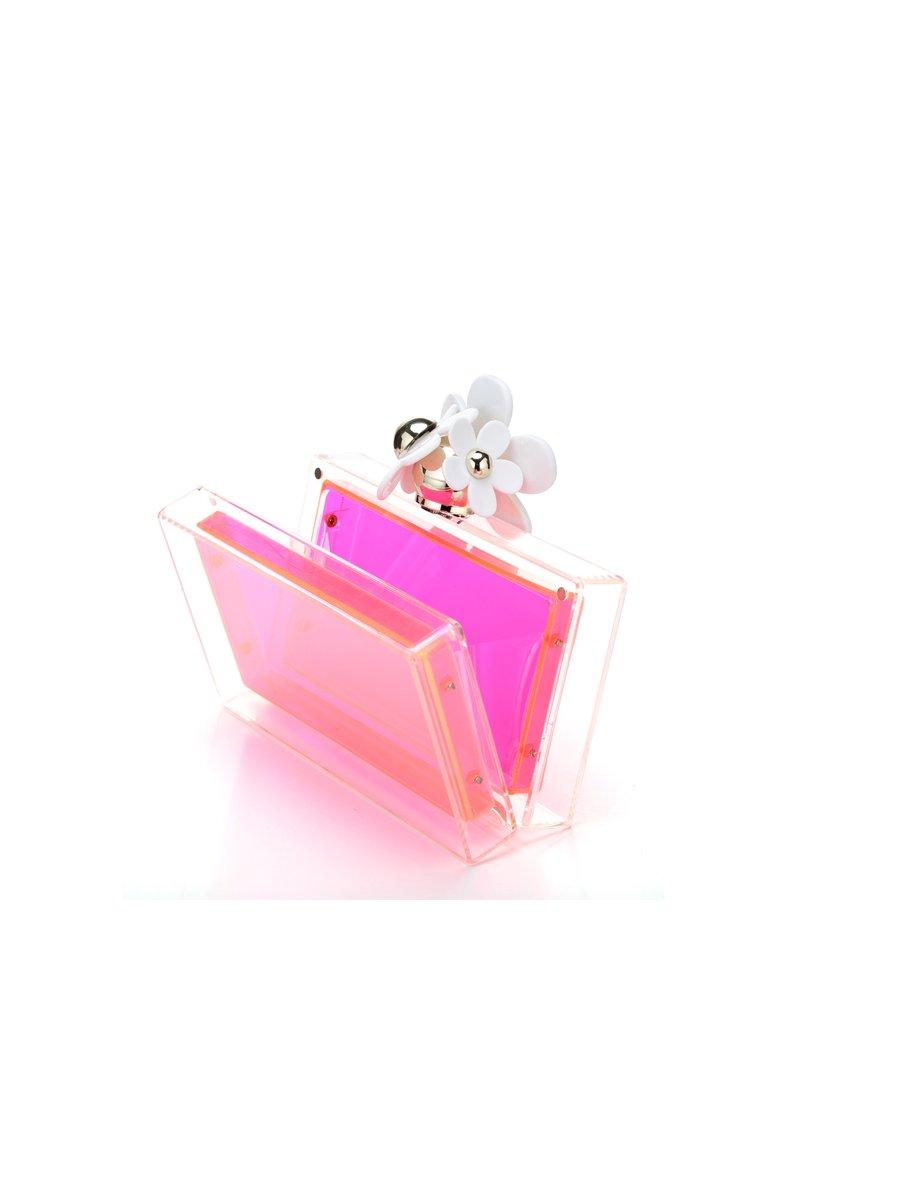Milanblocks Neon Pink Hawaii Daisy Custom Personalized Acrylic Clutch