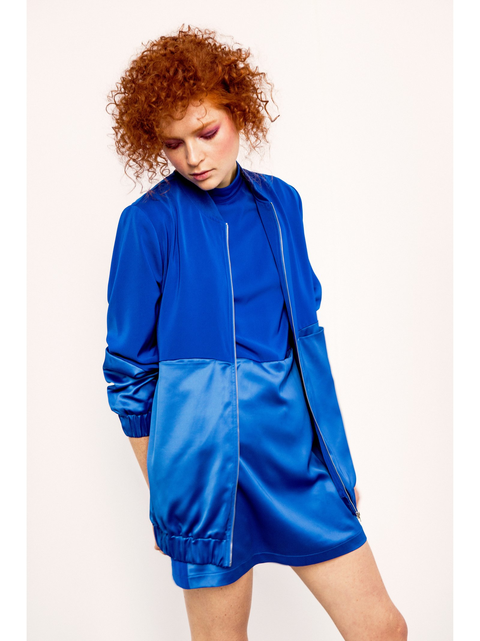 Hilary MacMillan Long Bomber Jacket