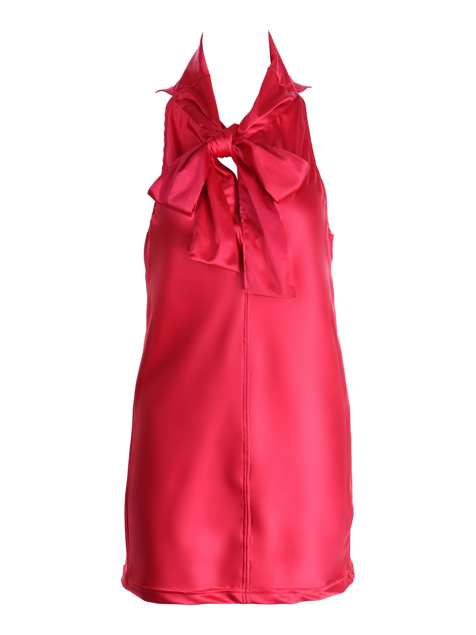 NightProwl Vermillion PussyCat Bow Dress